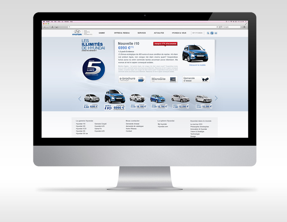 Refonte graphique du site Hyundai France